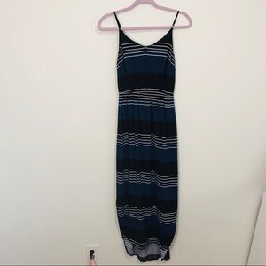 Old Navy blue and white striped maxi dress S/P